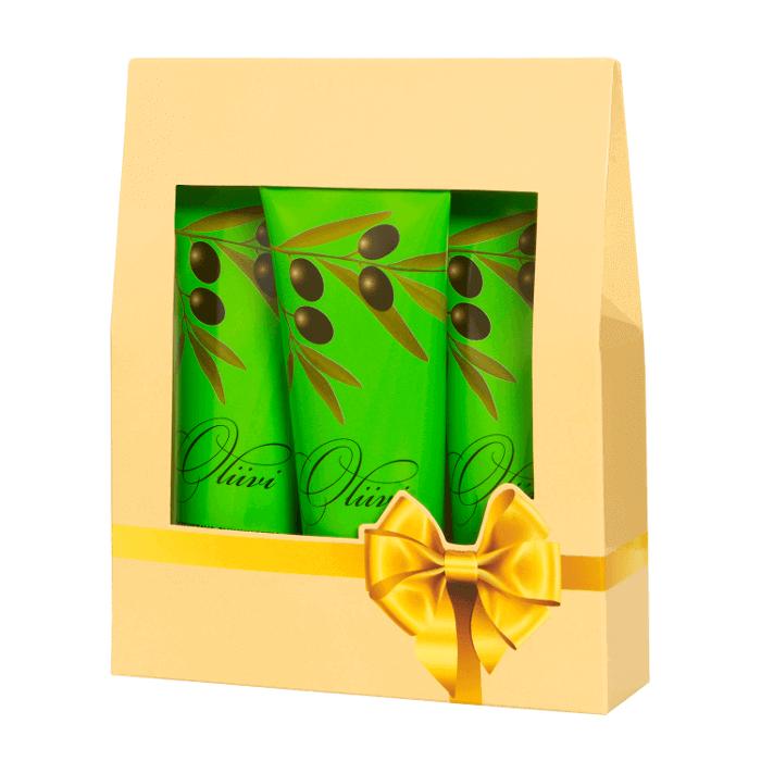 oliivi-lahjapakkaus